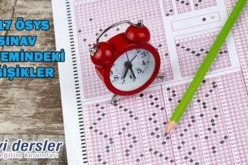 2017 Ösys Sınav Sistemindeki Değişiklikler | İyi Dersler | Özel O...