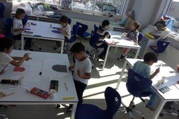 İlköğretimde Sulu Boya Çalışmamız