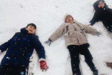 Çocukların Kar Sevinci