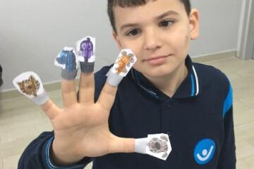Finger Puppet Yaparak Hem Eğlendik Hem Öğrendik