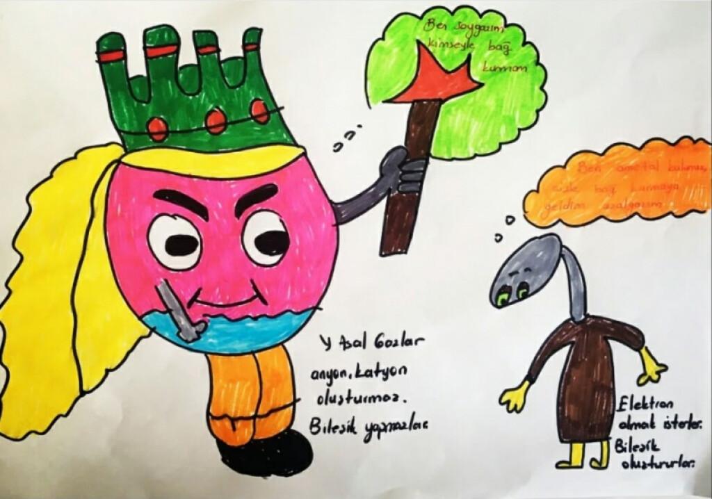Fen Bilimleri Dersimizde Maddenin Yapısını Karikatürler Eşliğinde...