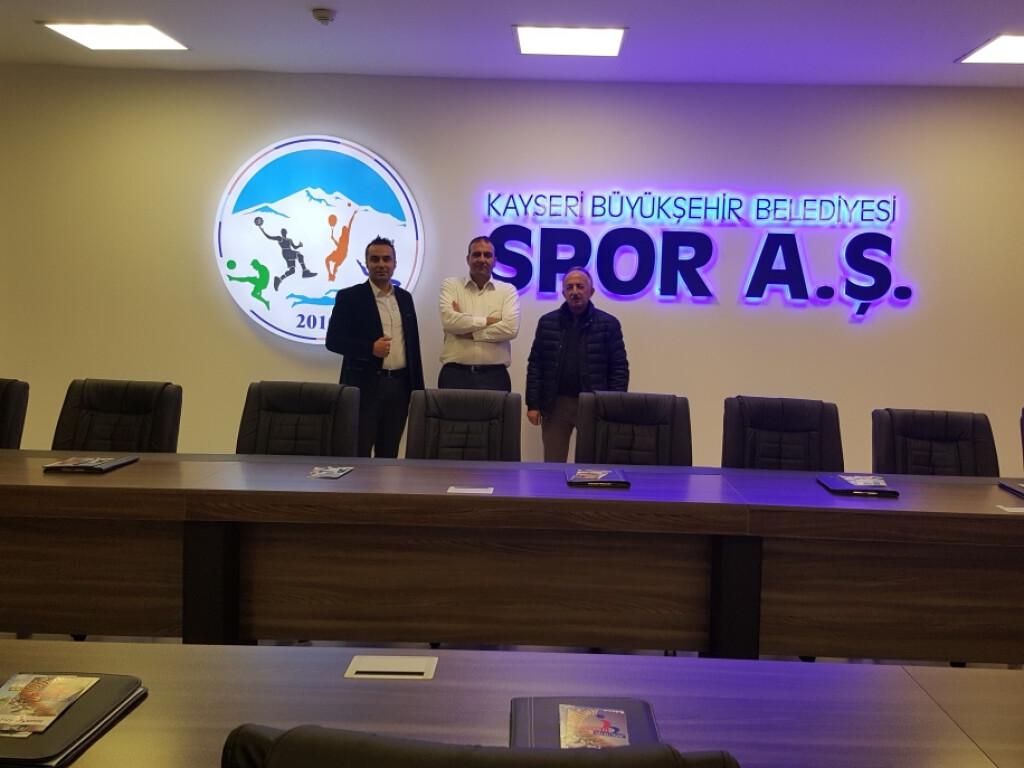 Kayseri Büyükşehir Belediyesi Spor A.ş Genel Müdürlüğünü Ziyaret...