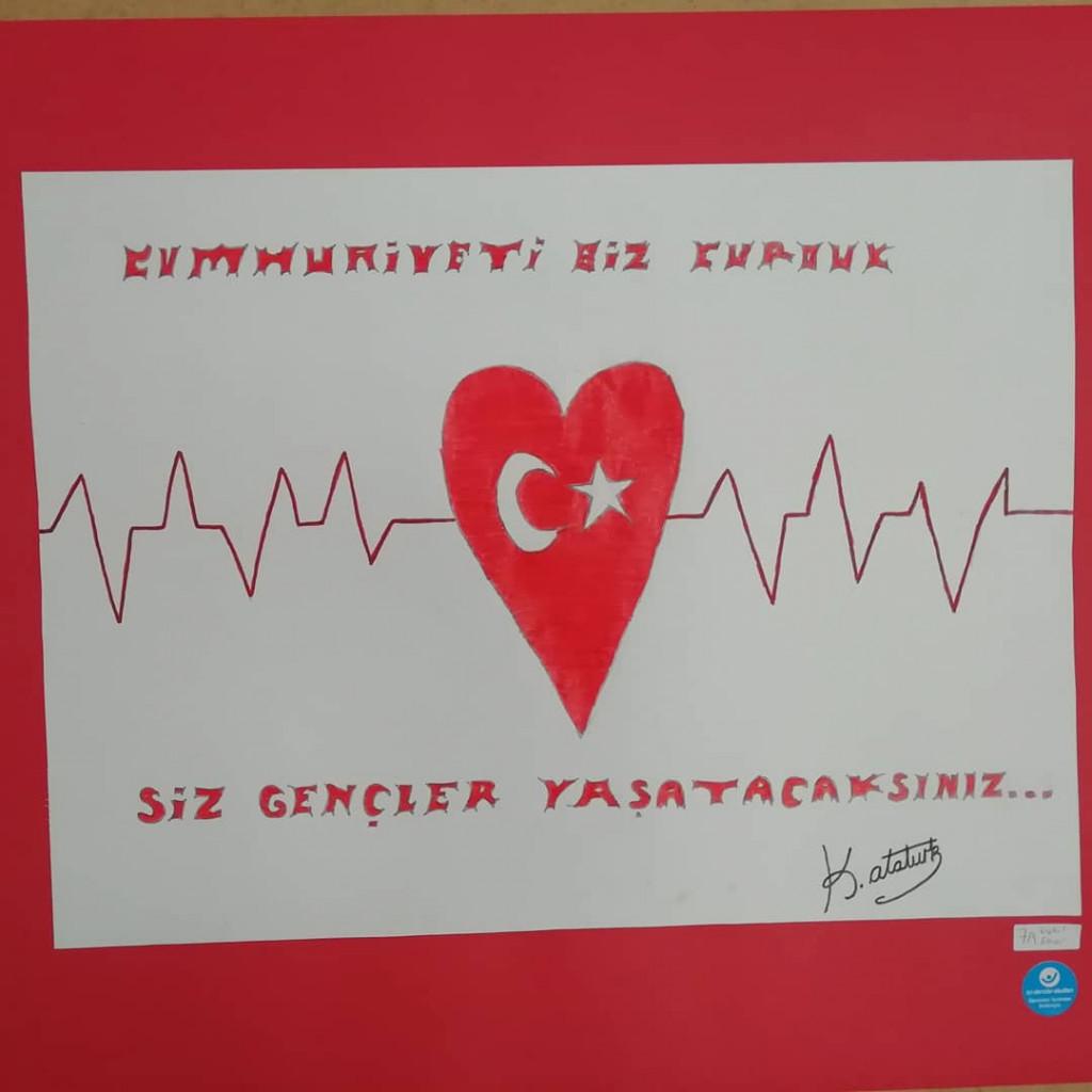 29 Ekim Cumhuriyet Bayramı Konulu Resim Sergimizden Kareler   İst...