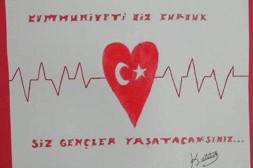 29 Ekim Cumhuriyet Bayramı Konulu Resim Sergimizden Kareler | Pen...