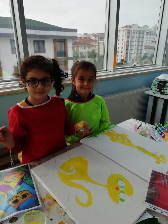 Tuval Boyama Çalışmalarına Başkadık☺️ | Pendik İlkokulu ve Ortaok...
