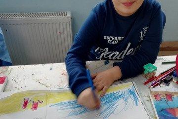 Tuval Boyama Çalışmalarına Başkadık☺️